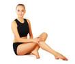 Young woman exercise yoga pose