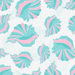 seashells seamless pattern