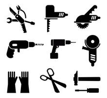 Zestaw ikon narzędzi