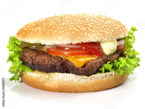 Cheeseburger vom Grill