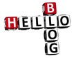 3D Hello Blog Crossword