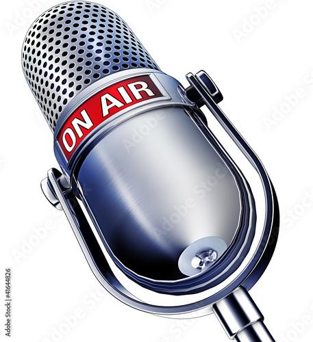 mikrofon na powietrzu