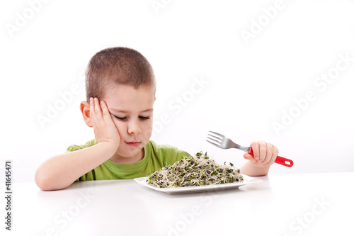 Boy refuses to eating