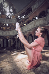 ballet dancer posing on theatre