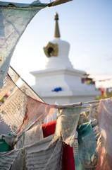 Буддийская ступа с молитвами