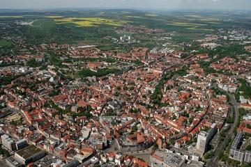 Erfurt aus der Vogelperspektive