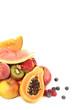 Obst mit viel freiem Platz