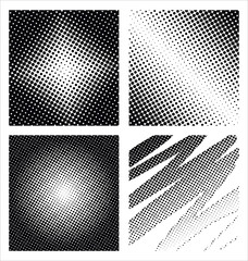 A set of 4 halftone frame patterns