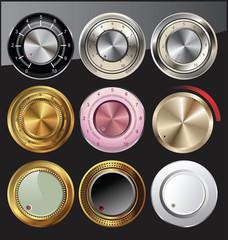 Control volume knobs set