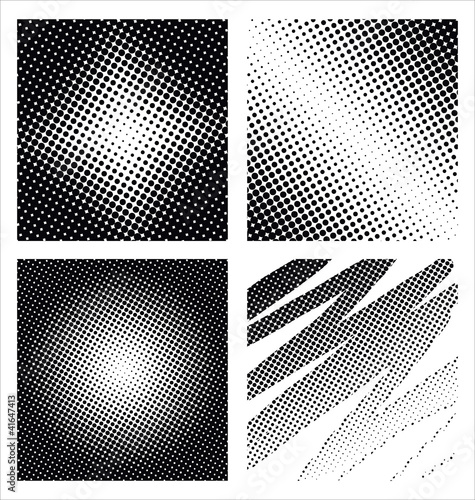 A set of 4 halftone frame patterns