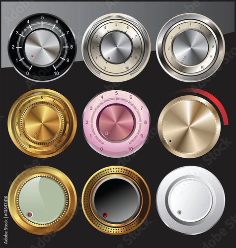 Control volume knobs set
