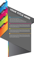 Abstract vector brochure design with bookmarks