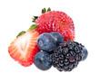 Heap of mixed berries