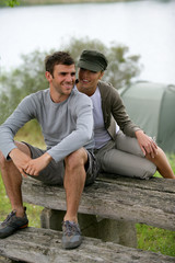 Couple on a camping trip