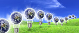 Bulb energy farm produce electric power to the world