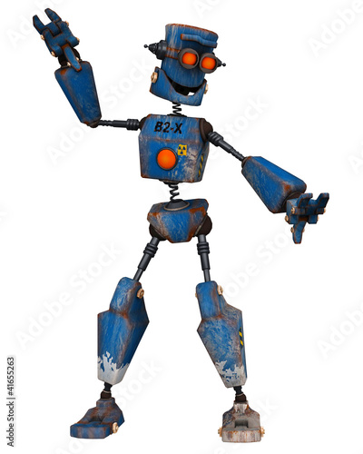 old robot dancing