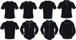 Black male shirts template