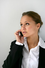 Businesswoman making a call