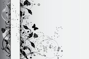 bannière floral