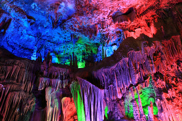 colorful stalactites