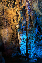 stalactites forming in silver cave