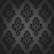 Seamless Pattern Flowers Dark