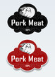 Pork Meat Seal / Sticker