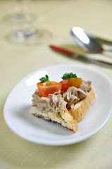 appetizer Couvert Krkonosske goodness, czech cuisine