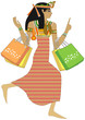Egyptian woman - Shopping