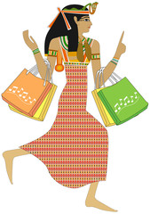 Egyptian woman - Shopping