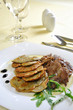Lamb medallions with homemade potato pancakes, Czech cuisine