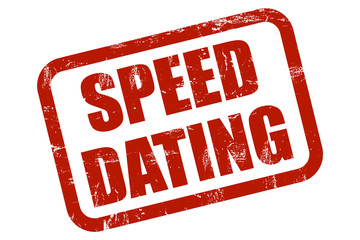 Grunge Stempel rot SPEED DATING