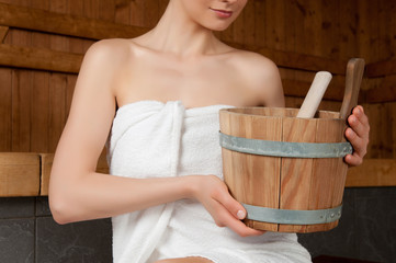 Bucket for sauna