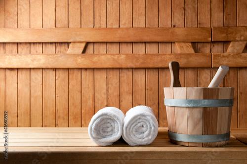 Leinwanddruck Bild Sauna