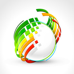 Abstract energy icon. Vector illustration