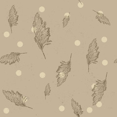 Vintage seamless texture with cane.