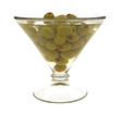 Stuffed olives in martini glass