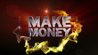 MAKE MONEY Text in Particle (Double Version) - HD1080