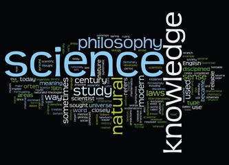 Word cloud with science concept