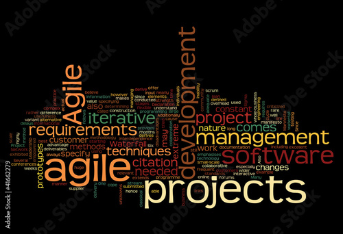 Word cloud with agile project concept