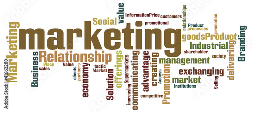 Word cloud with marketing concept