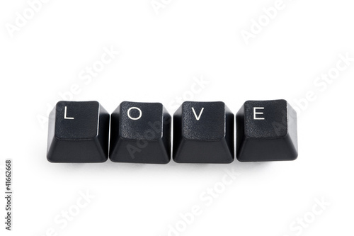 love computer internet dating concept