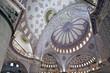 Interior view of Sultanahmet Mosque