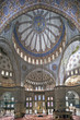 Interior view of Sultanahmet Mosque