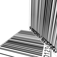3d barcode background