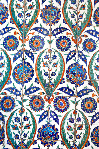 Wall tiles in Sultanahmet Mosque