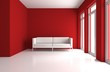 Wohndesign - roter Raum