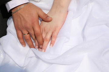 Rings of a newly-married couple