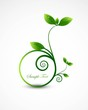 abstract nature leaf circle frame ecology vector