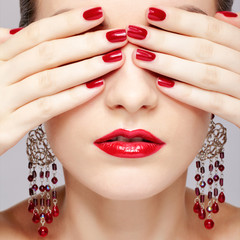 beautiful woman's manicure